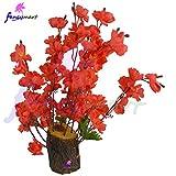 #7: Thefancymart Artificial Flower Blossom Arrangement (size 12 inchs/30 cms) in Natural Wood - 1178