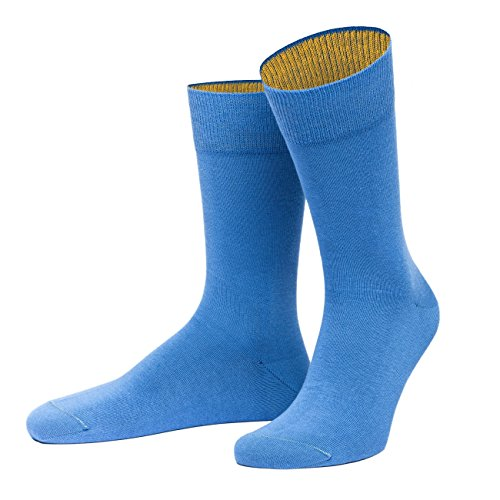 von Jungfeld - Herren Socken/Strumpf Herrensocken Baumwolle 1 Paar 45-47 blau - Ul 123