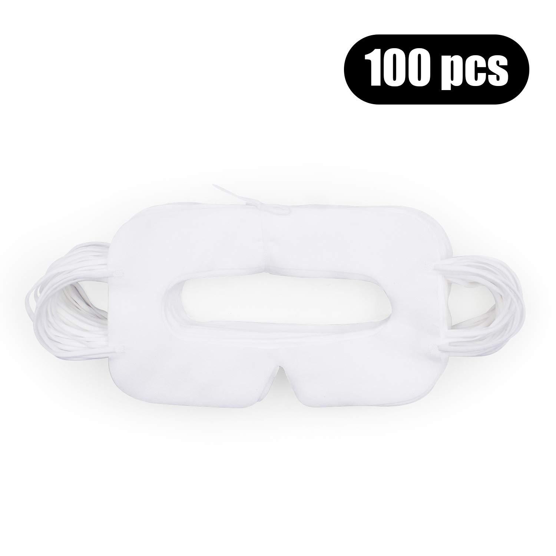 AMVR Lot de 100 Masques jetables VR hygiéniques Respirants Non tissés pour HTC Vive ou Pro/PS VR/Gear VR/Oculus Rift/Oculus Go et Autres Casques VR