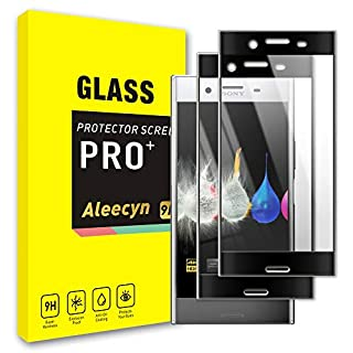 WARMYEE 2 Pack Screen Protector Compatible with Sony Xperia XZ Premium, Tempered Glass Screen, 3D Curved Protective Film and 9H Hardness, Crystal Clearity,Scratch-Resistant, No Lifted Edges Black