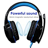 Gaming Headset Microphone ArkarTech PC Headphone Gamer with Mic LED 3.5mm Stereo G2000 for PC Computer Game With Noise Cancelling & Volume Control