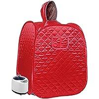 Sin logo FDCW 2020 - Sala de vapor para sauna de 3 capas para 9 niveles, ajustable, plegable, 80 x 80 x 100 cm, rosa