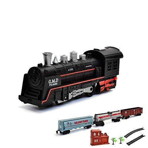 Elektrische Eisenbahn Starter-Set, Zug, Dampf-Lok , Soundsimulation, Modell-Lokomotive, inkl. Zubehör