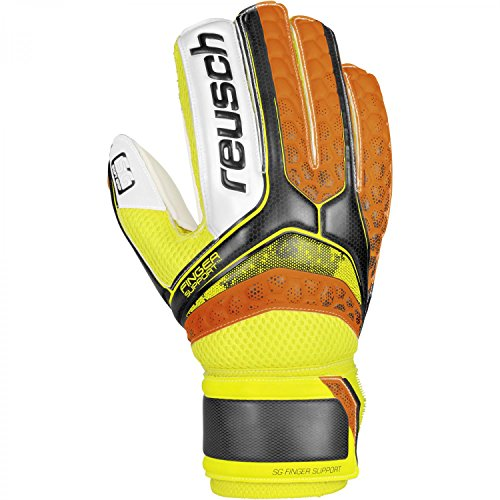 Reusch Herren Re:Pulse SG Finger Support Torwarthandschuh, Black/Shocking Orange, 9