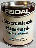 Feidal Bootslack / Yachtlack / Klarlack PU-verstärkt , hochglanz, für außen u. innen, v. Fachhandel, für höchste Ansprüche , 2,5 Liter