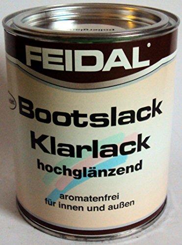 Feidal Bootslack / Yachtlack / Klarlack PU-verstärkt , hochglanz, für außen u. innen, v. Fachhandel, für höchste Ansprüche , 750 ml