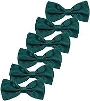 Kajeer Pajaritas para niños, niñas, niños - Paquete de 6 pajaritas ajustables pre-atadas para bodas