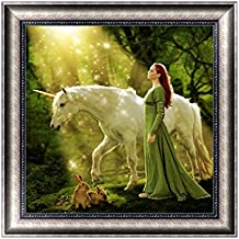 Jagenie DIY 5D diamante ricamo beauty & cavallo pittura a punto croce Craft Home Decor 30x 30cm