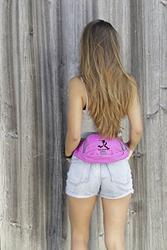Gürteltasche von Move Yourself | Praktische Bauchtasche mit 2 Fächern | Ideale Hüfttasche für den täglichen Gebrauch, für den Sport oder zum Reisen | 5 tolle Farben: Blau, Lila, Orange, Rot, Schwarz | Lila