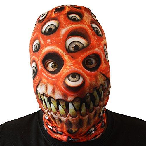 Augapfel Maske Kostüm - rot Augapfel Monster Mund Gesichtsmaske Halloween