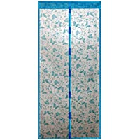 39 x 82inch Butterfly Style Magnetic Door Anti Mosquito Curtain Anti Insect Screen Portiere Blue