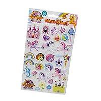 Guaranteed4Less Unicorn Art Stickers 3D Pony Magical Phone Scrapbook Notebook Rainbow Craft Card