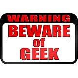 """graphique et plus """"Warning Beware of Geek"""" 22.9x 15.2cm plaque en métal Tableau"""