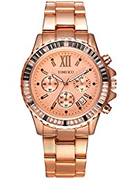 Time100 Fashion Multifunction Three circles Chronograph Quartz Mens Watch #W50327G.02A
