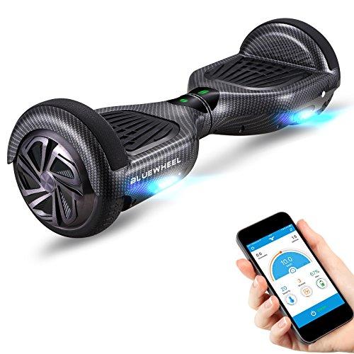 Testsieger* 6.5' Hoverboard Bluewheel HX320 mit UL2272 Sicherheitsstandard - Kinder Sicherheitsmodus mit App – Bluetooth Lautsprecher – 700W Motor – LED - Elektro Scooter Self-Balance E-Skateboard