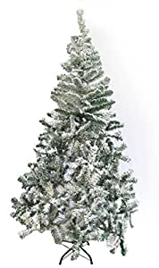 Ginni Bloom Artificial Christmas Tree with Snow (6 Feet tall)