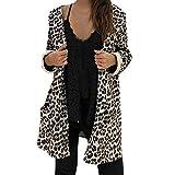 TianWlio Mäntel Frauen Herbst Winter Weihnachten Damen Hoodie Abdeckung Leopard Druck Mode Strickjacke Bluse Mantel Tops