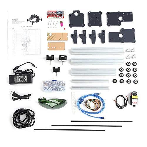 Graviermaschine , VG - L5 100-240VAC 1W DIY Gravierfräsmaschine Drucker Kit 190 * 130mm Mini Laser Graviermaschine Kit Unterstützt alle Graviermethoden(EU plug)