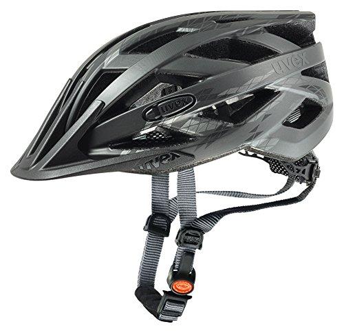 Uvex Erwachsene Fahrradhelm I-VO CC, schwarz (Schwarz (Black/Smoke Mat)), 52-57 cm