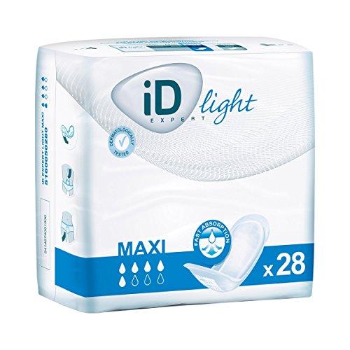 """ID Einlage""""Maxi"""" 28 Stück, Inkontinenzeinlagen Hygiene-Einlagen, hohe Saugleistung 800 ml, starke Ausführung, 15,5 x 40 cm"""