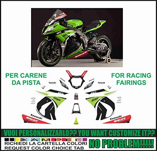 sivi Decal stikers Kawasaki ZX-10 R Ninja 2011 2015 Replica SBK 2013 Carene Pista ()