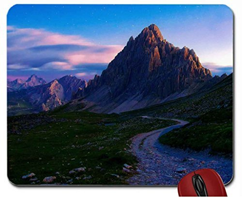 mountain-stone-road-under-starry-sky-mouse-pad-computer-mousepad