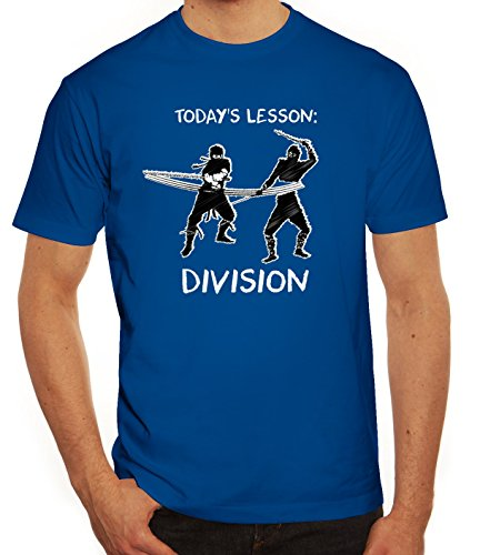 Sport Herren T-Shirt mit Ninja Division Motiv von ShirtStreet Royal Blau