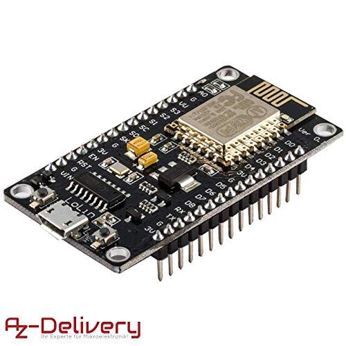 AZDelivery ⭐⭐⭐⭐⭐ Módulo WiFi NodeMCU Lua Lolin V3 ESP8266 ESP-12E WiFi Placa de Desarrollo con CH340 para Arduino