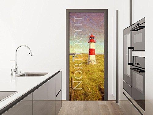 GRAZDesign Türbild Nordlicht - Türfolie Küchentür - Türposter Wohnzimmertür - Fototapete Küche / 80x213cm / 791774_80x213