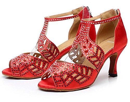 Chaussures De Danse Latine Kuki Chaussures Adultes À Talons Hauts Pour Adultes Chaussures De Danse Avec Diamants 1