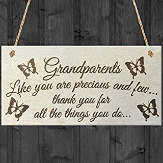 Alvis Petty Grandparents Like You Are Precious And Few Thank You For All The Things You Do Wooden Hanging Plaque Sign Love Gift