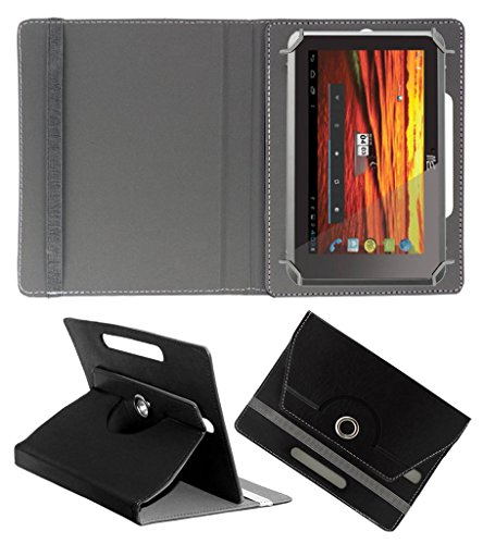 ACM ROTATING 360° LEATHER FLIP CASE FOR HCL ME Y3 TABLET STAND COVER HOLDER BLACK  available at amazon for Rs.149