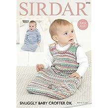 Sirdar 4755modello Baby Easy Knit sacchi a pelo in Sirdar Snuggly Baby Crofter DK