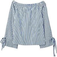 Blusas Mujer, ASHOP Casual Raya Fuera del Hombro Talla Extra Sudaderas Ropa en Oferta Camisetas Manga Larga Tops de Fiesta Abrigos Invierno de Mujer otoño