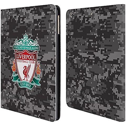 Ufficiale Liverpool Football Club Away Stemma Colori Camouflage Digitale Cover a portafoglio in pelle per Apple iPad Air