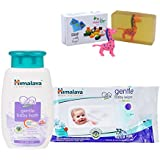 Himalaya Herbals Gentle Baby Shampoo (100ml)+Himalaya Herbals Gentle Baby Wipes (72 Sheets) With Happy Baby Luxurious Kids Soap With Toy (100gm)