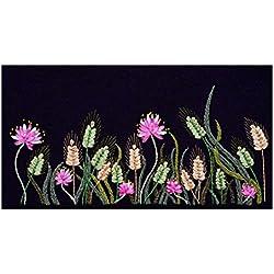 Sharplace Blumen Seidenband Stickerei Kit, DIY Handgemachte Stick Wandbilder