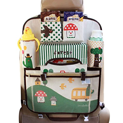 Topker Multifunktions Kinder Cartoon Auto Stuhl Zurück Organizer Aufbewahrungsbeutel Kinder Hängen Auto Organisieren Taschen Tasche