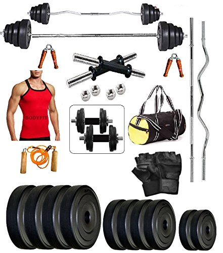 bodyfit 50kg home gym fitness 4 rods,gym vest,gym bag,gym accessories Bodyfit 50Kg Home Gym Fitness 4 Rods,Gym Vest,Gym Bag,Gym Accessories 51RmkHsWDuL