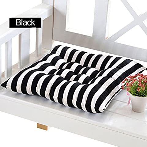 Striped Sedia cuscini cuscini nero