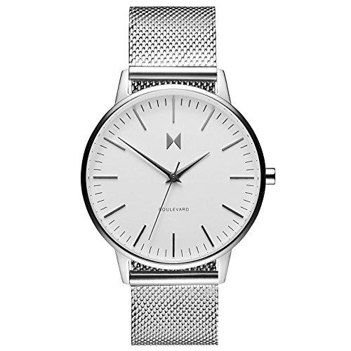 MVMT Damen Analog Quarz Uhr mit Edelstahl Armband D-MB01-S