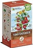 BIO Tomatendünger | Plantura | Langzeitwirkung | für eine aromatische & reiche Tomatenernte | 100% tierfrei & bio-zertifiziert | gut für den Boden | unbedenklich für Haus- & Gartentiere | Naturdünger | 1,5 kg | NPK 4-3-8 + 2 MgO