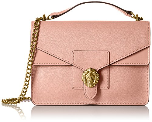 anne-klein-diana-medium-double-flap-chain-shoulder-bag-peony-hot-pink