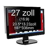 Xianan 27 Zoll Widescreen 16:9 Displayfilter Blickschutzfilter Blickschutzfolie Blickschutz Sichtschutz 23.5*13.23in/597*336mm