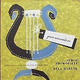 """SERGE PROKOFIEFF / DER VERLORENE SOHN OP. 46b / BELA BARTOK / TANZ-SUITE / ORCHESTRE DE L ASSOCIATION DES CONCERTS COLNNE / Dirigent: GEORGE SEBASTIAN / ca. 1955 / genähte Bildhülle / pro musica # P M C 5021 / Deutsche Pressung / 10"""" Vinyl Langspiel-Schallplatte"""