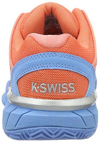 K-Swiss Performance Hypercourt Express Hb, Chaussures de Tennis Femme Orange (Fusion Coral/bonnie Blue 664)