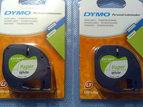 2-x-dymo-letratag-tape-refill-cassette-paper-label-white-91200-s0721510