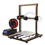 ANET E12 3D Printer DIY Upgradest High Precision Reprap Prusa 3D Drucker mit LCD12864 Arbeitet mit PLA ABS Filamenten für DIY (Orange)