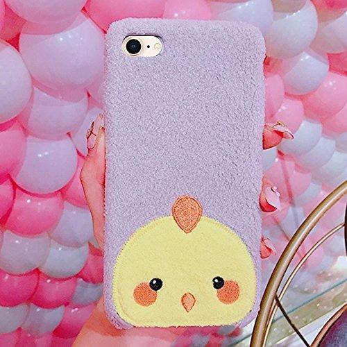 Chicken Cute (Für iPhone 8 & 7 Creative Cute Chicken Pattern Plüsch schützende Rückseite Fall ISEYMI-CE)
