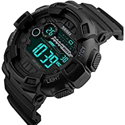 Skmei S-Shock Digital Black Dial Men's Watch(1243)
